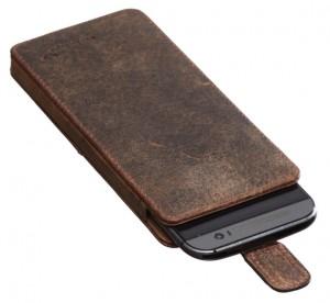 PACKENGER Ledertasche für Samsung Galaxy S 7 Cover in Vintage-Braun
