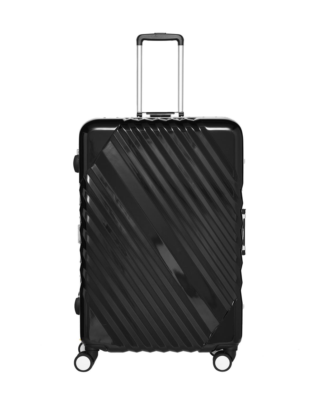 Skystar Hartschalenkoffer aus robustem Polycarbonat mit TSA – Zahlenschloss mit Aluminiumrahmen