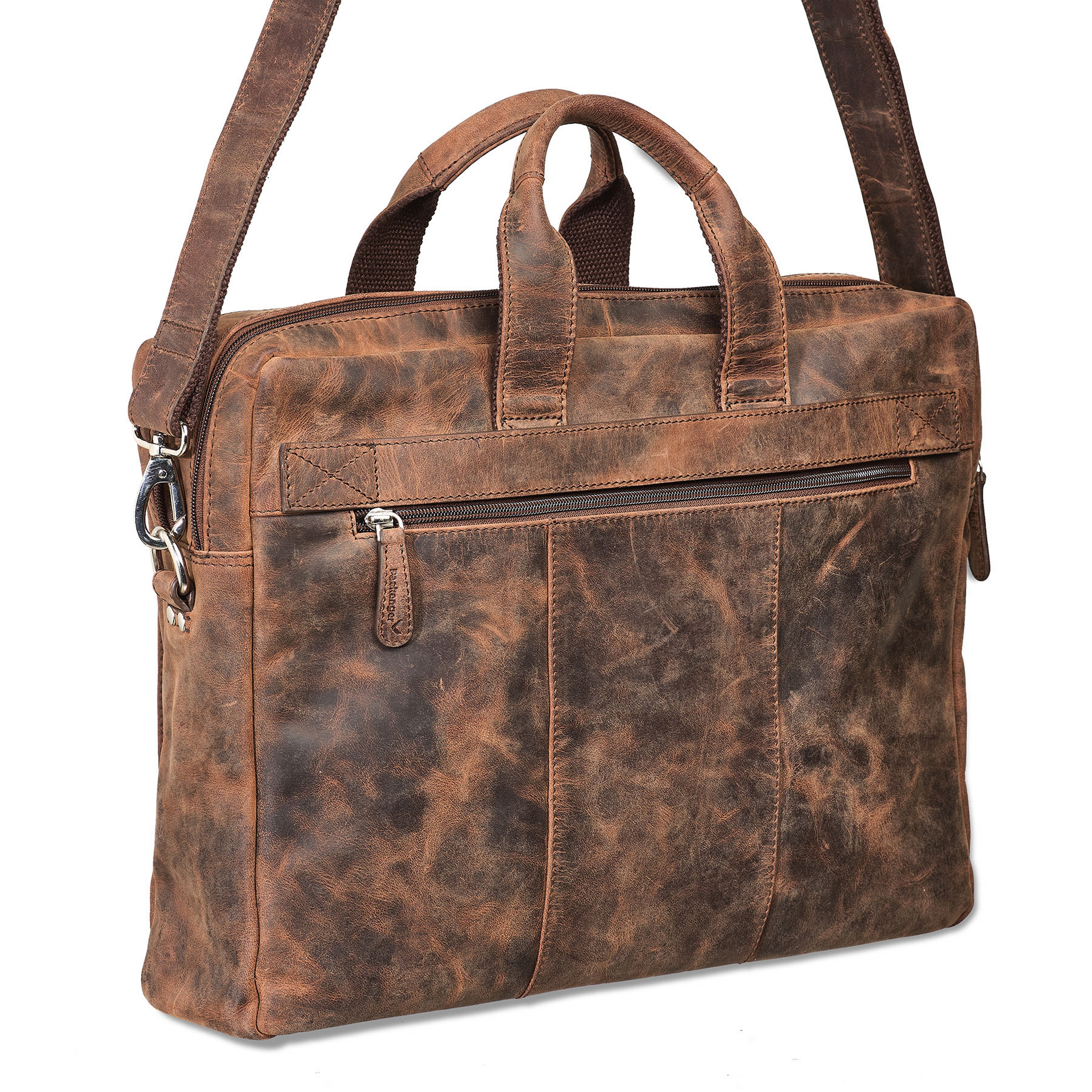 Packenger Messenger Bag ODIN Ledertasche in Vintage Braun