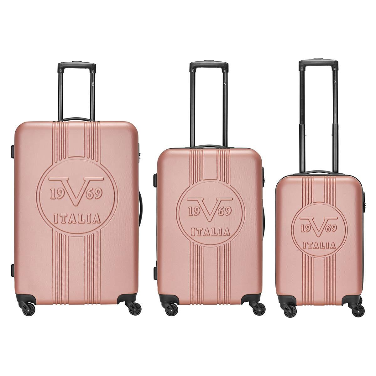 3er Koffer-Set ABS Trolley-Set Hartschale (M, L & XL) Material: ABS 4 Rollen (360°) 903-001-