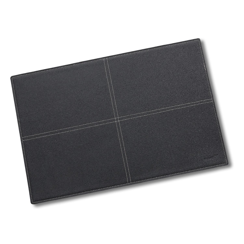 Leder Tischset, schwarz